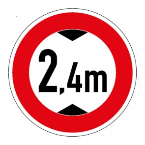 Schild Durchfahrtshöhe 2,4 Meter
