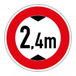 Aufkleber Durchfahrtshöhe 2,4 Meter