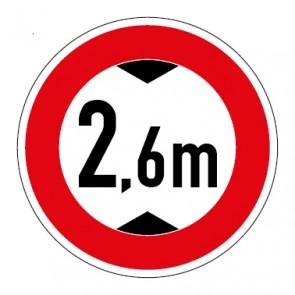 Schild Durchfahrtshöhe 2,6 Meter