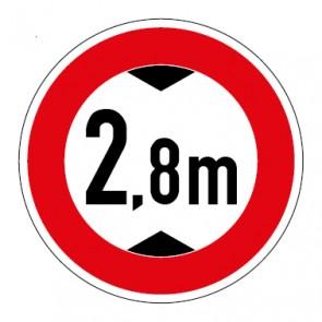 Schild Durchfahrtshöhe 2,8 Meter
