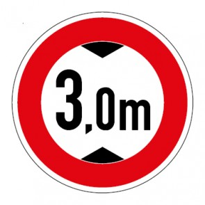 MAGNETSCHILD Durchfahrtshöhe 3,0 Meter