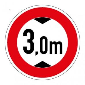 Aufkleber Durchfahrtshöhe 3,0 Meter