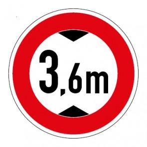 Aufkleber Durchfahrtshöhe 3,6 Meter