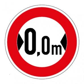 Aufkleber Verkehrszeichen Durchfahrtsbreite Wunschziffer
