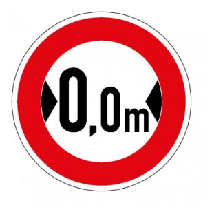 MAGNETSCHILD Verkehrszeichen Durchfahrtsbreite Wunschziffer