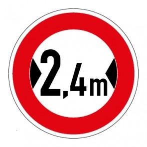 Schild Verkehrszeichen Durchfahrtsbreite  2,4 Meter