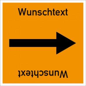 Rohrleitungskennzeichnung viereckig Wunschtext · Aluminium-Schild