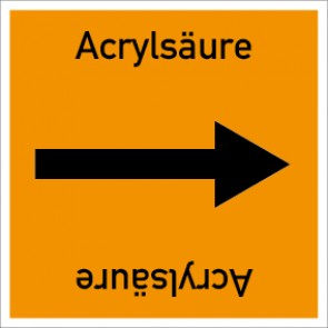 Rohrleitungskennzeichnung viereckig Acrylsäure · Aufkleber
