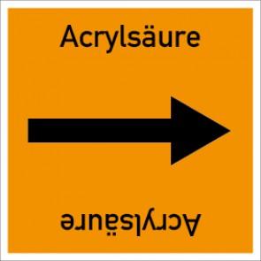 Rohrleitungskennzeichnung viereckig Acrylsäure · Aluminium-Schild