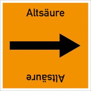 Rohrleitungskennzeichnung viereckig Altsäure · Aluminium-Schild