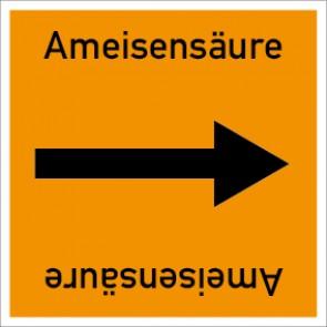 Rohrleitungskennzeichnung viereckig Ameisensäure · Aluminium-Schild