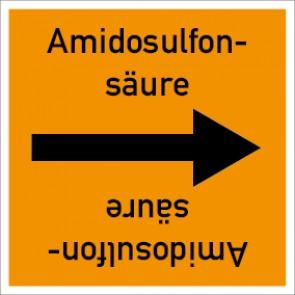 Rohrleitungskennzeichnung viereckig Amidosulfonsäure · Aufkleber