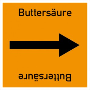 Rohrleitungskennzeichnung viereckig Buttersäure · Aufkleber