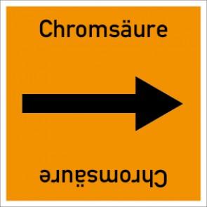 Rohrleitungskennzeichnung viereckig Chromsäure · Aluminium-Schild