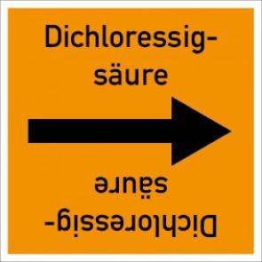 Rohrleitungskennzeichnung viereckig Dichloressigsäure · Aufkleber