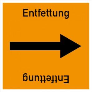 Rohrleitungskennzeichnung viereckig Entfettung · Aluminium-Schild