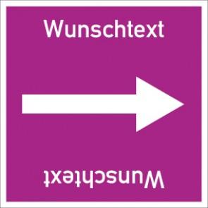 Rohrleitungskennzeichnung viereckig Wunschtext · MAGNETSCHILD