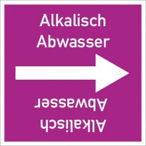 Rohrleitungskennzeichnung viereckig Alkalisch Abwasser · Aluminium-Schild