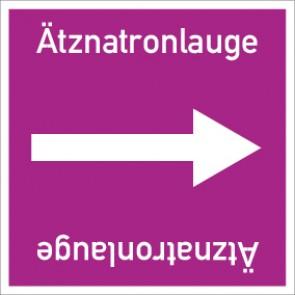 Rohrleitungskennzeichnung viereckig Ätznatronlauge · Aufkleber