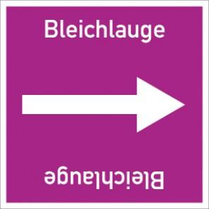 Rohrleitungskennzeichnung viereckig Bleichlauge · Aluminium-Schild