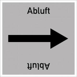 Rohrleitungskennzeichnung viereckig Abluft · MAGNETSCHILD