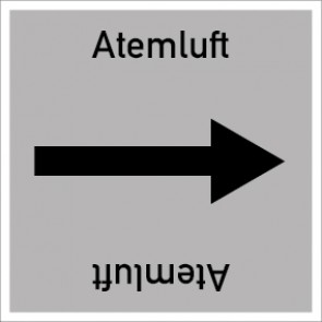 Rohrleitungskennzeichnung viereckig Atemluft · Aufkleber