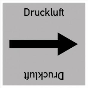 Rohrleitungskennzeichnung viereckig Druckluft · Aufkleber