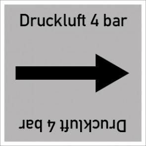 Rohrleitungskennzeichnung viereckig Druckluft 4 bar · Aufkleber