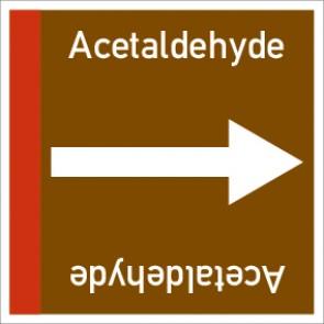Rohrleitungskennzeichnung viereckig Acetaldehyde · Aluminium-Schild