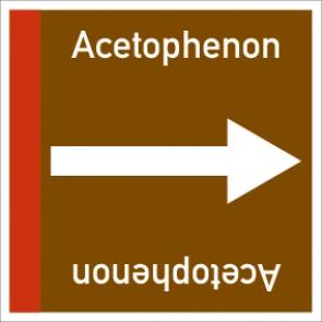 Rohrleitungskennzeichnung viereckig Acetophenon · Aluminium-Schild