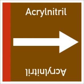 Rohrleitungskennzeichnung viereckig Acrylnitril · Aluminium-Schild