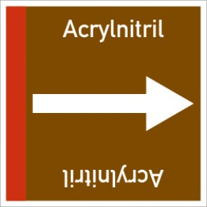 Rohrleitungskennzeichnung viereckig Acrylnitril · MAGNETSCHILD