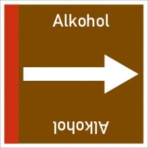 Rohrleitungskennzeichnung viereckig Alkohol · Aluminium-Schild