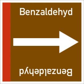 Rohrleitungskennzeichnung viereckig Benzaldehyd · Aluminium-Schild