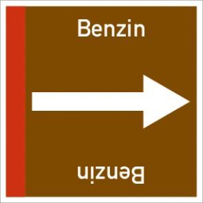 Rohrleitungskennzeichnung viereckig Benzin · Aluminium-Schild