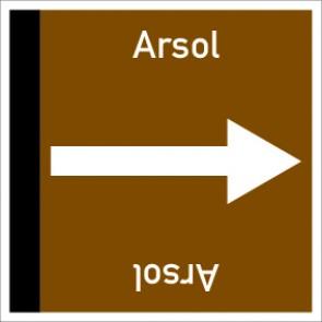 Rohrleitungskennzeichnung viereckig Arsol · Aluminium-Schild