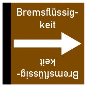 Rohrleitungskennzeichnung viereckig Bremsflüssigkeit · Aluminium-Schild