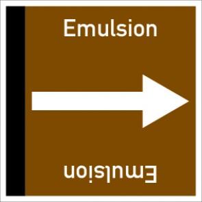 Rohrleitungskennzeichnung viereckig Emulsion · Aluminium-Schild