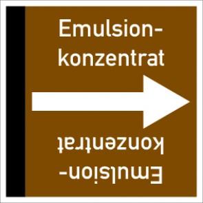 Rohrleitungskennzeichnung viereckig Emulsionkonzentrat · Aluminium-Schild