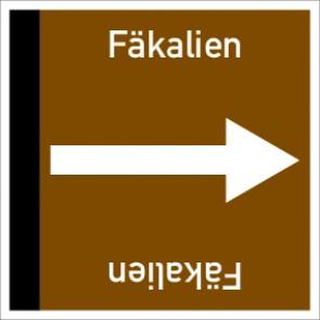 Rohrleitungskennzeichnung viereckig Fäkalien · Aluminium-Schild