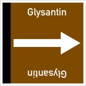 Rohrleitungskennzeichnung viereckig Glysantin · Aufkleber