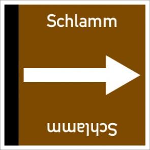 Rohrleitungskennzeichnung viereckig Schlamm · Aluminium-Schild