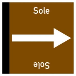 Rohrleitungskennzeichnung viereckig Sole · Aufkleber