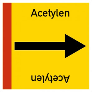 Rohrleitungskennzeichnung viereckig Acetylen · Aufkleber