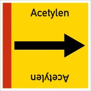 Rohrleitungskennzeichnung viereckig Acetylen · Aluminium-Schild