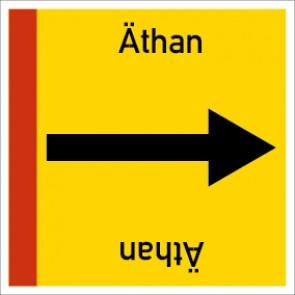 Rohrleitungskennzeichnung viereckig Äthan · Aluminium-Schild