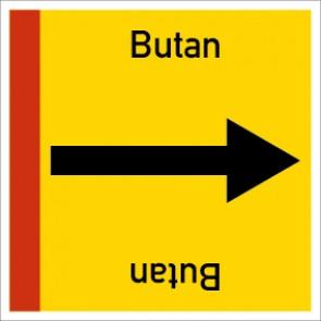 Rohrleitungskennzeichnung viereckig Butan · Aufkleber
