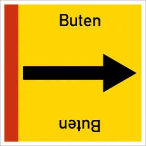 Rohrleitungskennzeichnung viereckig Buten · Aluminium-Schild