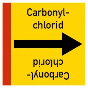 Rohrleitungskennzeichnung viereckig Carbonylchlorid · Aluminium-Schild