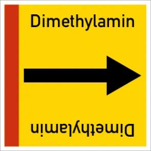 Rohrleitungskennzeichnung viereckig Dimethylamin · Aluminium-Schild